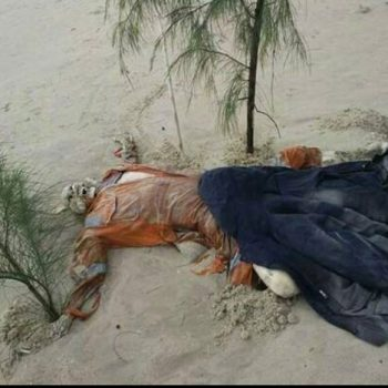 Rangka Manusia Berpakaian Seragam Pelantar Minyak Di Temui Pesisiran Pantai Bachok